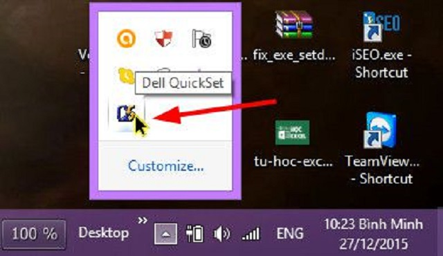 Quickset or specifically Quickset64 is a power utility for Dell laptops